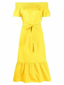 Tory Burch off-the-shoulder dress - Yellow