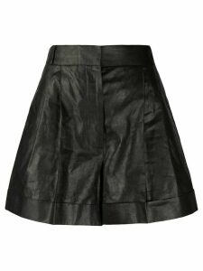 Alexander McQueen pleated high-waist shorts - Black
