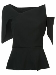 Roland Mouret asymmetrical blouse - Black