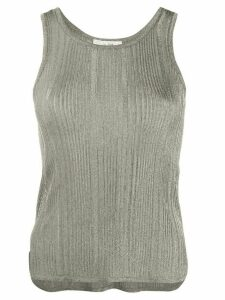 The Row metallic effect ribbed tank top