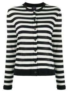 Paul & Shark striped fitted cardigan - White