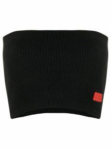 Gcds logo patch tube top - Black