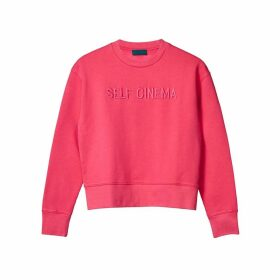 Self Cinema Sweatshirt Embroidered Fuschia