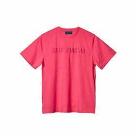 Self Cinema T-shirt Embroidered Fuschia