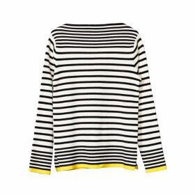 Self Cinema Breton Rib Knit Ecru- Black Stripe