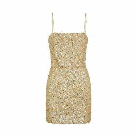 Retrofête Heather Gold Sequin Mini Dress