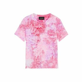 RAGYARD Tie-dyed Embellished Cotton T-shirt
