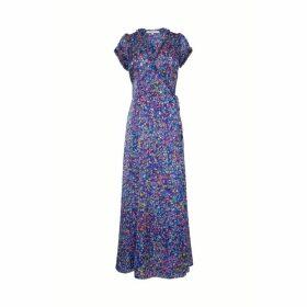Gerard Darel Long Printed Wrap Dress
