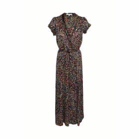 Gerard Darel Long Dress In Printed Jacquard