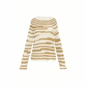 Gerard Darel Two-tone Cotton Sweater
