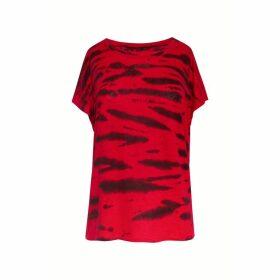 Gerard Darel Animal Print Linen T-shirt