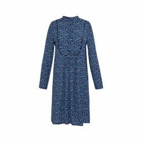 Gerard Darel Printed Viscose Crepe Dress