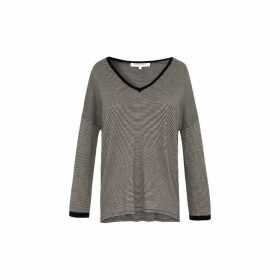 Gerard Darel Light Striped Wool Sweater