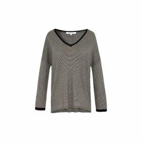 Gerard Darel Light Striped Wool Sweater