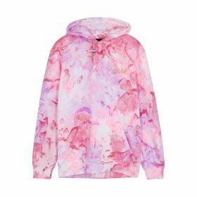 RAGYARD Pink Tie-dyed Cotton-blend Sweatshirt