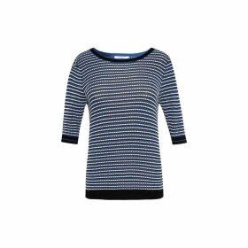 Gerard Darel Short Sleeve Jacquard Sweater