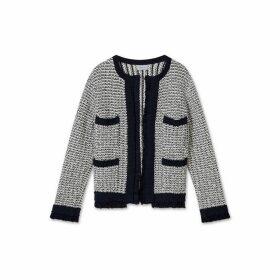 Jigsaw Boucle Tweed Crew Jacket
