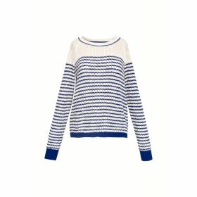 Gerard Darel Fancy Knit Striped Sweater