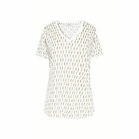 Gerard Darel Linen T-shirt With Fancy Motifs