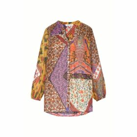 Gerard Darel Printed Cotton Blouse