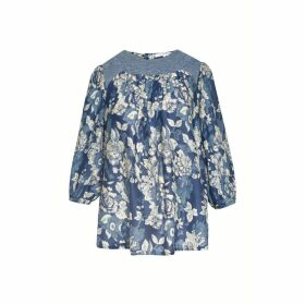 Gerard Darel Cotton And Silk Blouse With Lace