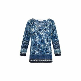 Gerard Darel Light Printed Cotton And Linen Sweater