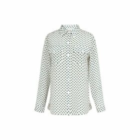 Gerard Darel Printed Silk Crepe De Chine Shirt