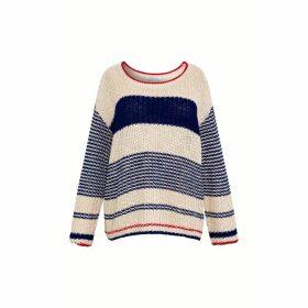 Gerard Darel Striped Cotton And Linen Sweater
