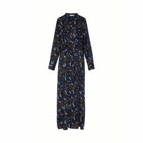 Gerard Darel Long Tunic-style Shirt Dress With Printed Cotton