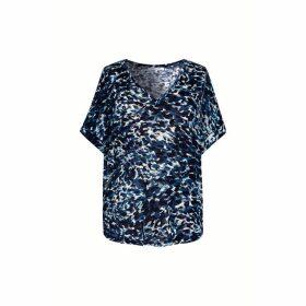 Gerard Darel Loose-fitting Printed Cotton-blend T-shirt