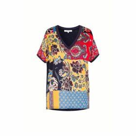 Gerard Darel Printed Bi-material T-shirt