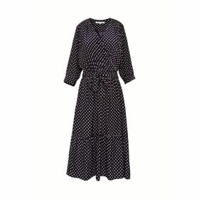 Gerard Darel Polka Dot Wrap Dress