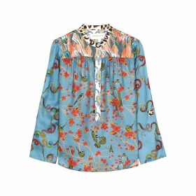 La Prestic Ouiston Romee Printed Silk Blouse