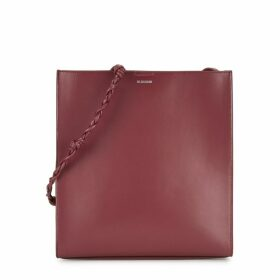Jil Sander Tangle Medium Burgundy Leather Shoulder Bag