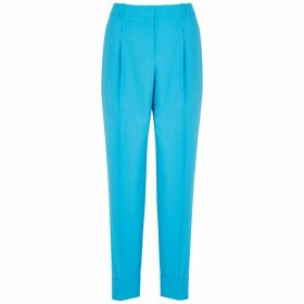 BOSS Towoma Blue Tapered Stretch-wool Trousers