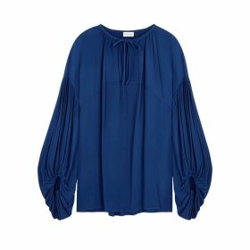BY MALENE BIRGER Kyra Dark Blue Chiffon Blouse
