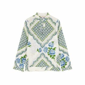Tory Burch Floral-print Cotton Blouse