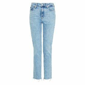 Paige Hoxton Blue Distressed Slim-leg Jeans