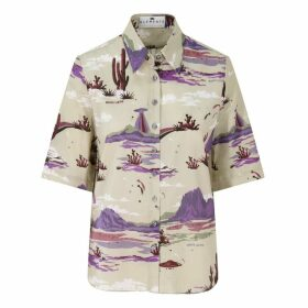 Klements - Mildred Shirt Marfa Lights (Violet) Print