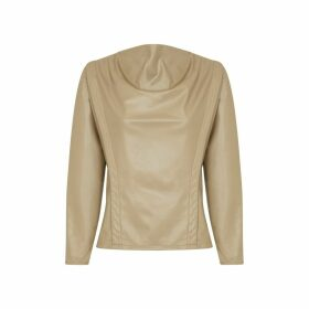 Riona Treacy - Vegan Leather Jumper Top
