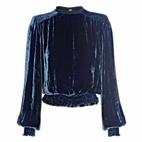 LAHIVE - Mary Jane Silk Velvet Loose Top