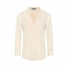 THEAVANT - Pleated Blouse With Pinstripes