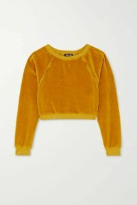 Suzie Kondi - Stretch Cotton-blend Velour Sweatshirt - Gold