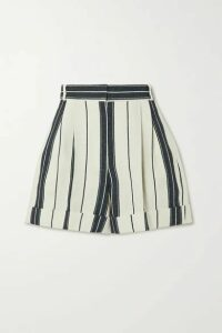 Alexander McQueen - Striped Linen And Cotton-blend Shorts - Ivory