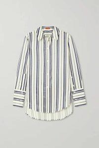Altuzarra - Giselda Striped Lyocell-blend Shirt - Gray