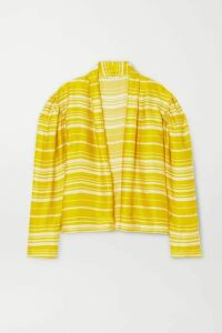 Dries Van Noten - Coti Striped Satin Blouse - Yellow