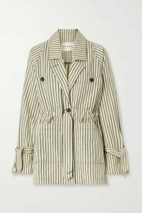 Mara Hoffman - + Net Sustain Arlo Belted Striped Tencel Lyocell And Organic Cotton-blend Twill Jacket - Ecru
