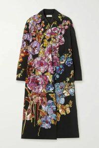 Dries Van Noten - Oversized Embellished Cotton-blend Coat - Black