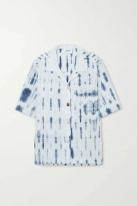 Nanushka - Taio Tie-dyed Organic Cotton-poplin Shirt - Blue