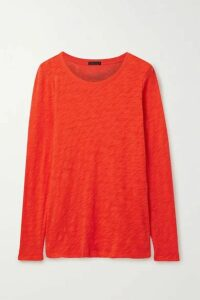 ATM Anthony Thomas Melillo - Distressed Slub Cotton-jersey Top - Bright orange